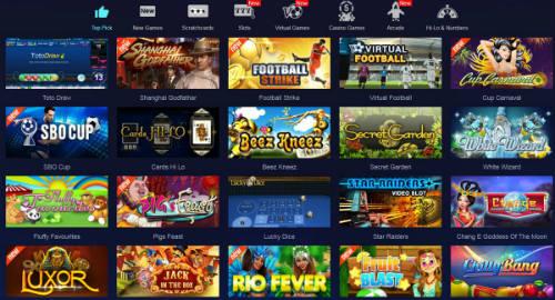 daftar games di situs sbobet